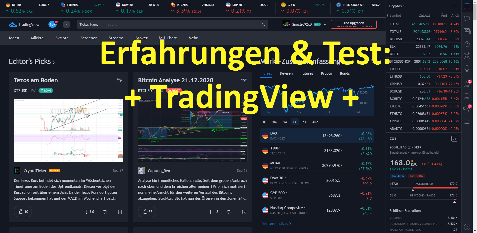 Read more about the article Erfahrungen und Test TradingView: Beste Chartanalyse Plattform