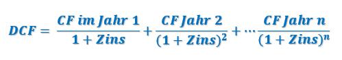dcf rechner formel